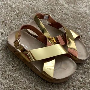Children's Place Gold Sandal